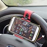 MMOBIEL Porta móvil/Clip/Soporte Universal para Ajustar al Volante y Hacerlo Manos Libres (Hands Free) para for iPhone 4 5 5S 6 6S 6 7 Plus Samsung S3 S4 S5 S6