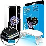 Domo de Vidrio Galaxy S9 protector de pantalla de vidrio templado, domo de vidrio completo en 3D borde curvo pantalla [tecnología de dispersión líquida] fácil de instalar kit por Whitestone para Samsung Galaxy S9 (2018) - 1paquete