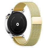 Pinhen 20mm Correa - Milanese Magnético de Acero Inoxidable Reemplazo Banda para Amazfit Bip, Galaxy Watch 42mm, Ticwatch E, Gear S2 Classic, Huawei Watch 2, Vivoactive 3 (20MM Gold)