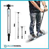 Bluewheel H60 Manillar Patinete eléctrico - Barra de 38 a 90 cm en Aluminio - Barra de Equilibrio óptima y Segura para Principiantes, manijas para monopatines eléctricos (Plateado)