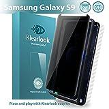 Klearlook - Protector de pantalla para Galaxy S9 (incluye protector de pantalla, protector de pantalla de cristal templado y filtro de privacidad) para Samsung Galaxy S9 (antiarañazos)