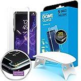 Dome Glass S9 Protector Pantalla, 3D Borde Curvo Cristal Templado [Tecnología de Dispersión Líquida] Fácil de Instalar Kit por Whitestone para Samsung Galaxy S9