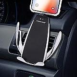 Cargador inalámbrico para automóvil, Soporte para teléfono móvil, ventilación para el automóvil, Sensor de Gravedad, rotación de 360 ° Compatible con Galaxy s6 a s9, Compatible con iPhone 8 a XS MAX