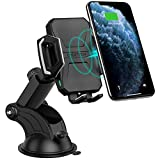CHOETECH Cargador Inalámbrico Coche, Qi Wireless Car Charger Soporte, Carga Rápida 7.5W para iPhone SE 2/11 Pro/Xs/Xs Max/XR/X/ 8/8 Plus, 10W Galaxy S20/S20+/S10/S9/S8/Note 9, 5W Teléfonos Qi-Enabled