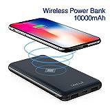 iWALK Qi Cargador Inalámbrico Power Bank 10000mAh Doble PD QC Puerto Batería Externa Portátil Carga con tecnología Inteligente para Kompatibel mit iPhone X/8/8 Plus, S9/S8/S7/S6 Edge+/Note8