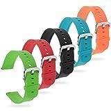 Zacro 5Pcs 20mm Reemplazo de Correa de Amazfit Bip Multicolor Impermeable Universal,Pulsera Ajustable para Xiaomi Huami Amazfit Bip bit Lite Youth Watch (Sin Tracker)