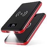 KEDRON Cargador Móvil Portátil Batería Externa, Cargador Inalámbrico Rápido Power Bank para Android Phones, Smartphones y Otros Tablet(Rojo)
