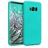 kwmobile Funda para Samsung Galaxy S8 - Carcasa para móvil en TPU Silicona - Protector Trasero en Turquesa neón