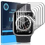 LK Compatible con Apple Watch Series 6 SE Series 5 Series 4 44mm con Apple Watch Series 3 Series 2 Serie 1 42mm Protector de Pantalla, 6 Pack,TPU-Film,Alta definición,LK-X-72