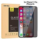 SZEETECH Protector de pantalla de vidrio templado de privacidad para iPhone Xs / X, dureza antiespía / 9H / 2 vías 180 ° Proteja su secreto /Cobertura completa 3D, 5.8 ', 1 paquete, negro
