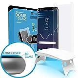 Dome Glass Galaxy S8 Protector Pantalla, 3D Borde Curvo Cristal Templado [Tecnología de Dispersión Líquida] Fácil de Instalar Kit por Whitestone para Samsung Galaxy S 8
