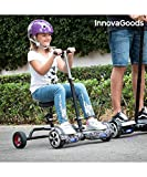 InnovaGoods Ig115908 Hoverbike para Hoverboard, Unisex niños, Negro, Talla Única