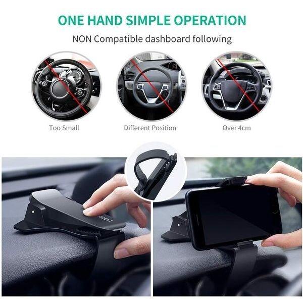 Soporte móvil pinza antideslizante coche