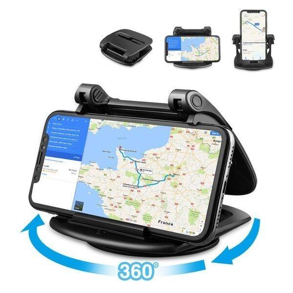 Sujetar el móvil en salpicadero del coche con ventosa