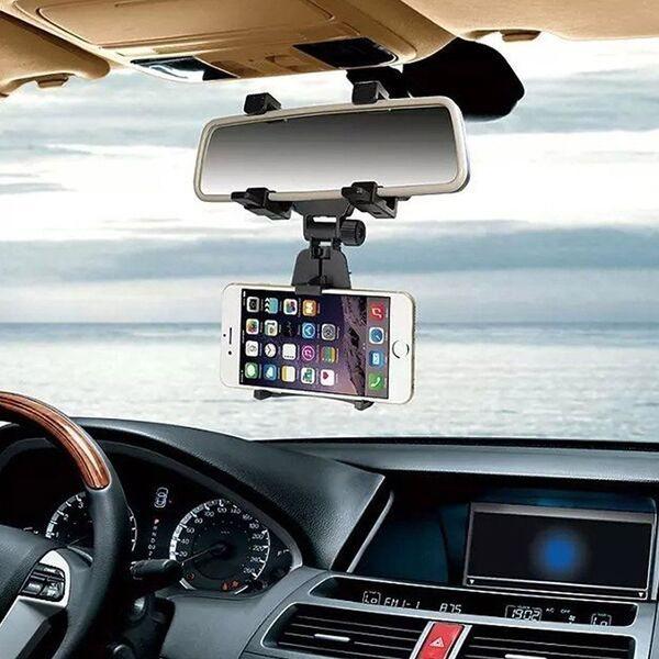 Soporte teléfono móvil espejo retrovisor