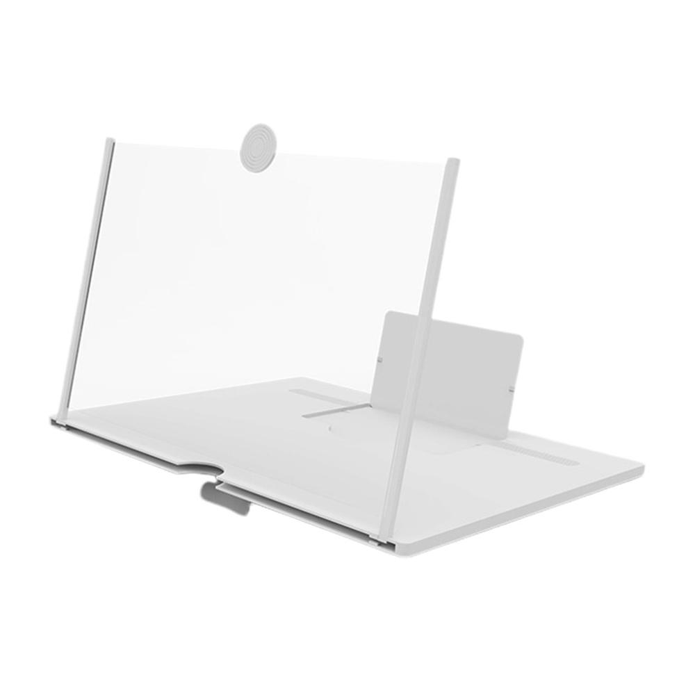 Amplificador de pantalla lupa 3D para móvil a todo color blanco
