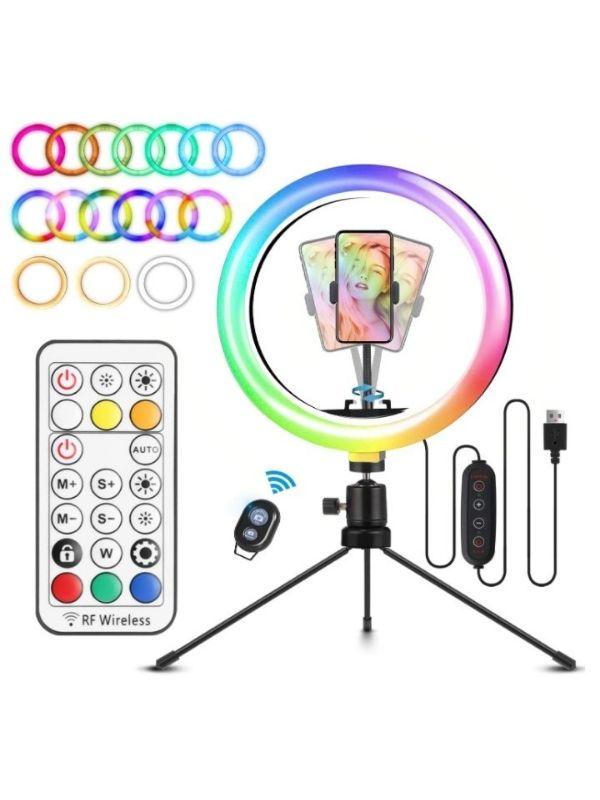 Anillo de luz 26 colores RGB