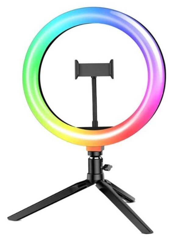 Anillo de luz con soporte para móvil