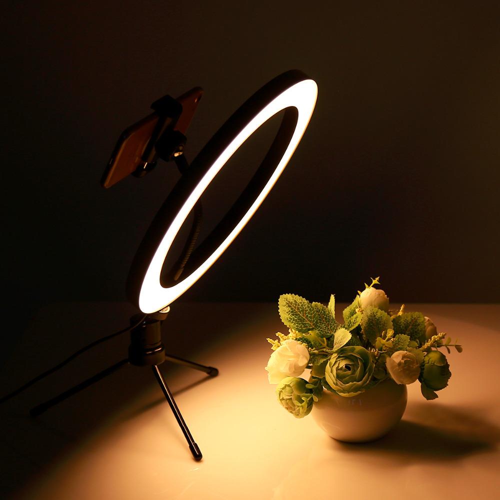 Anillo de luz con trípode