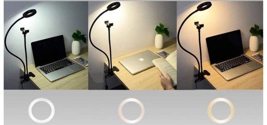 Aro de luz LED brazo flexible