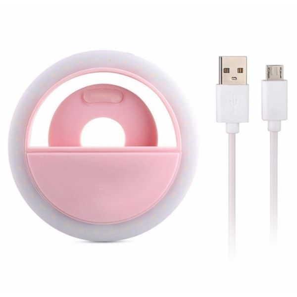 Aro de luz con pinza rosa