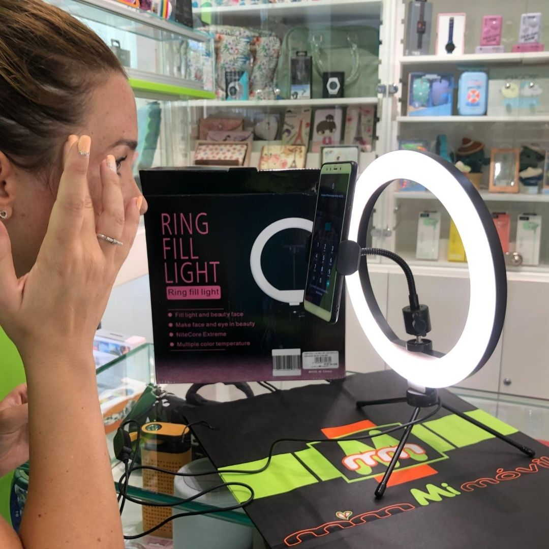 Aro de luz para selfie y vídeo