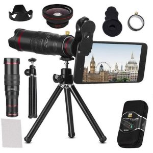 BWORPPY Kit de lente de cámara 22X teleobjetivo