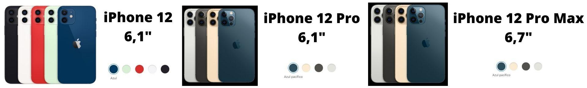 Colores disponibles iPhone 12-12 Pro-12 Pro Max