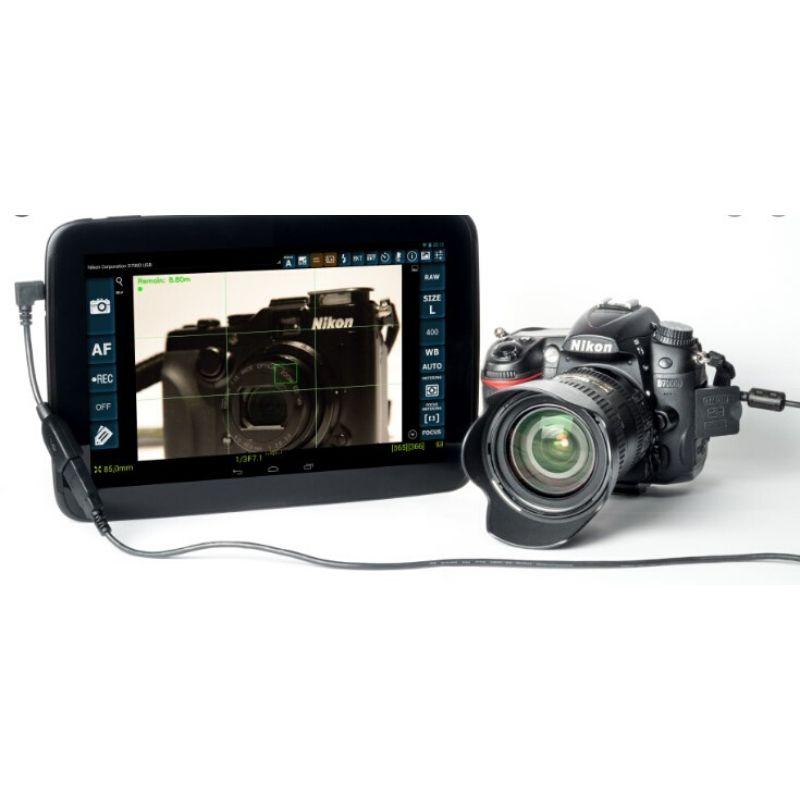 Conectar cámara de fotos cable OTG