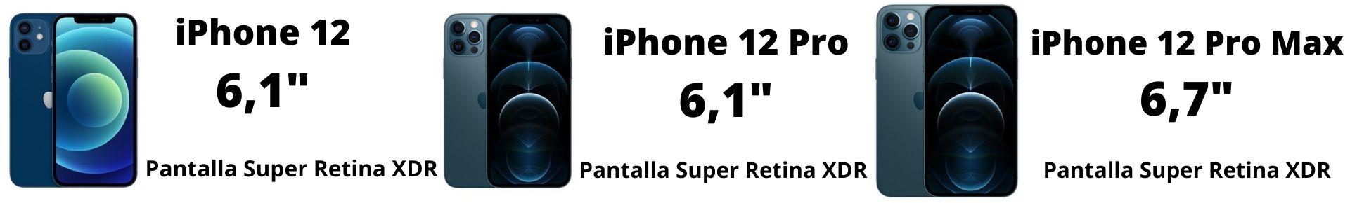 Diferencias entre las pantallas iPhone 12-12 Pro-12 Pro Max