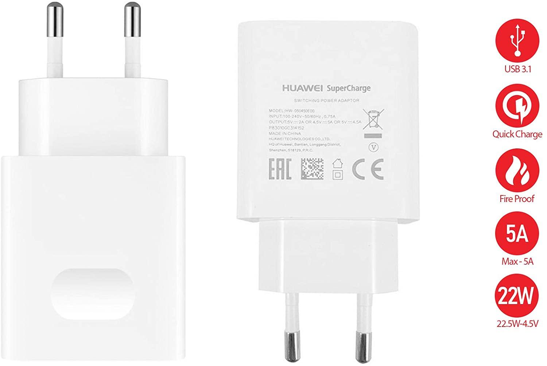 Enchufe Huawei Super Charge 22.5W
