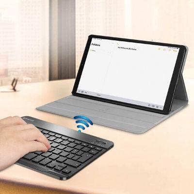 Funda con teclado Bluetooth para Samsung Galaxy Tab A 2019