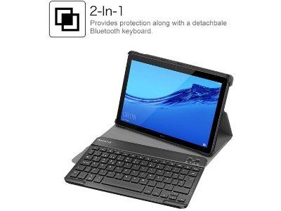 Funda con teclado inalámbrico extraíble