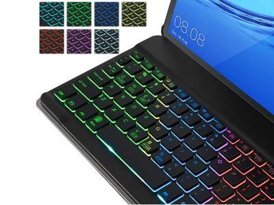 Funda con teclado retro iluminado Huawei T5