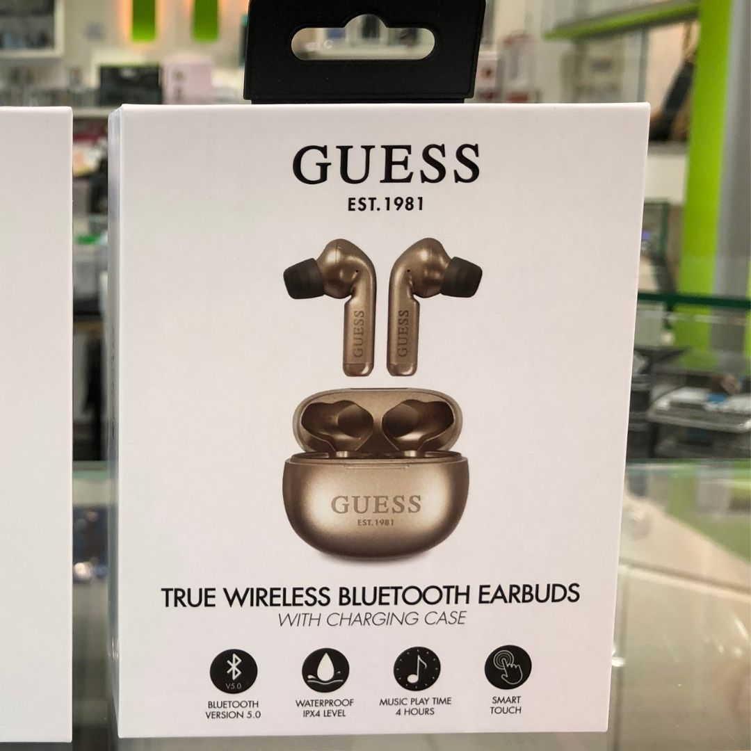 Guess auricular Bluetooth dorado