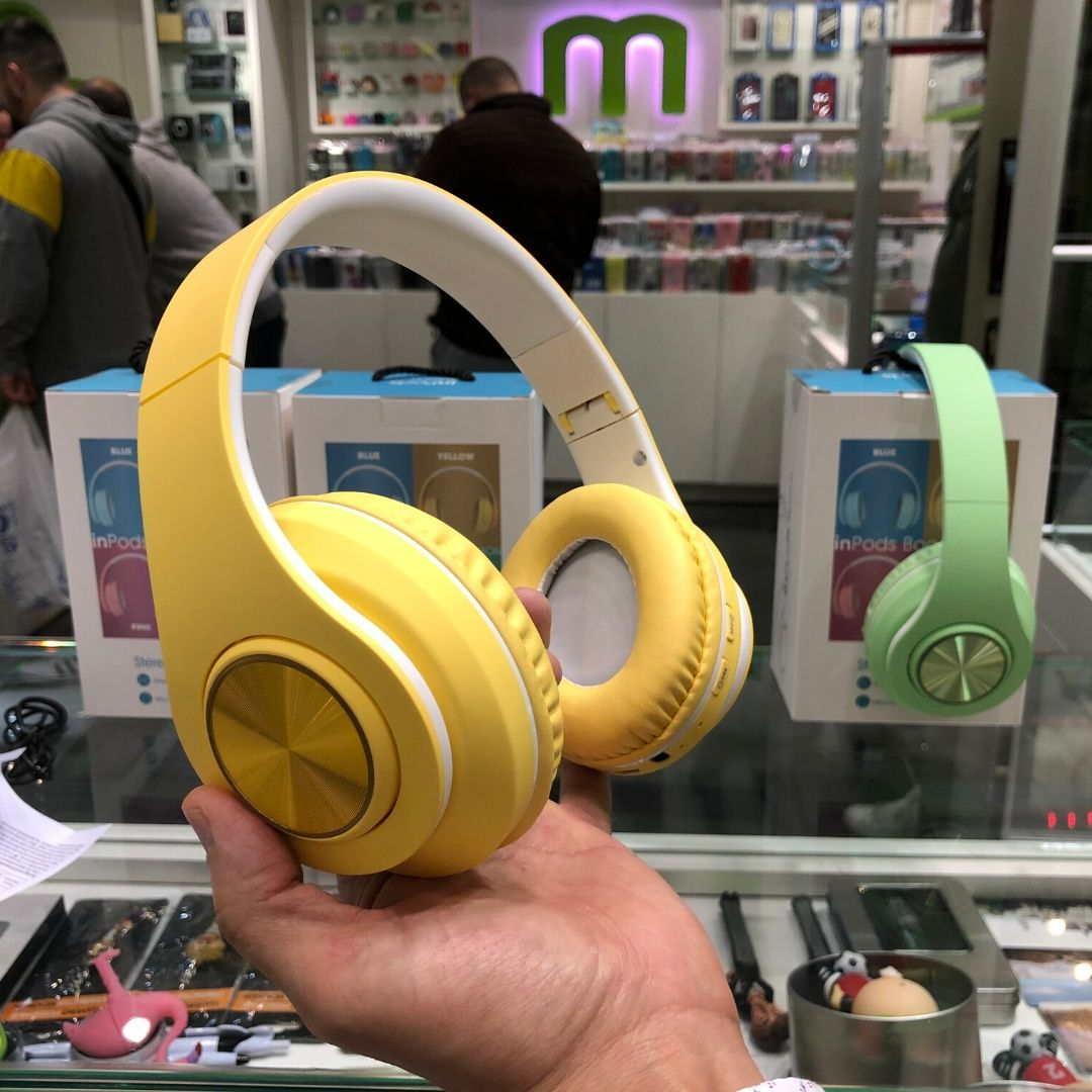 InPods Boom Auricular Bluetooth amarillo