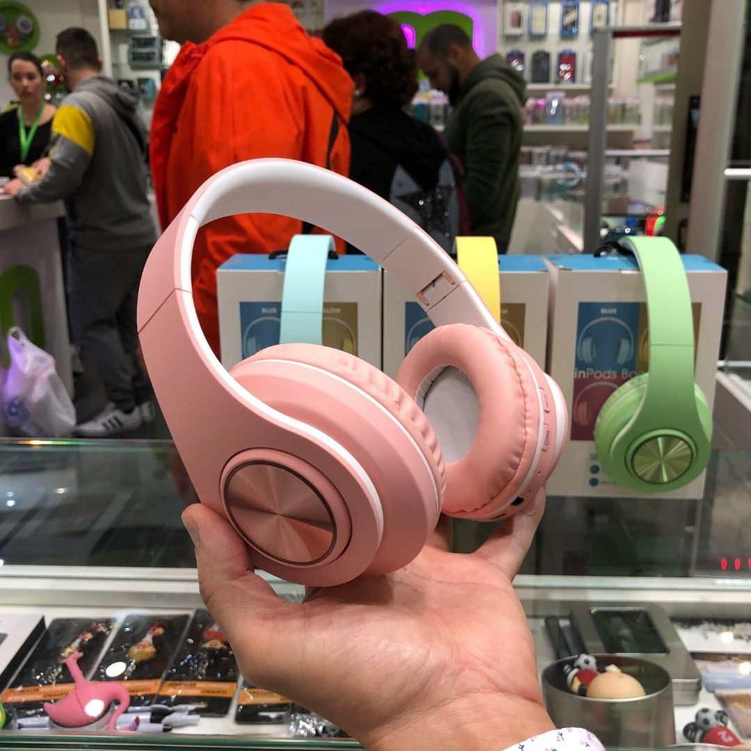 InPods Boom Auricular Bluetooth rosa