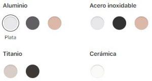 Materiales y colores Apple Watch series 5