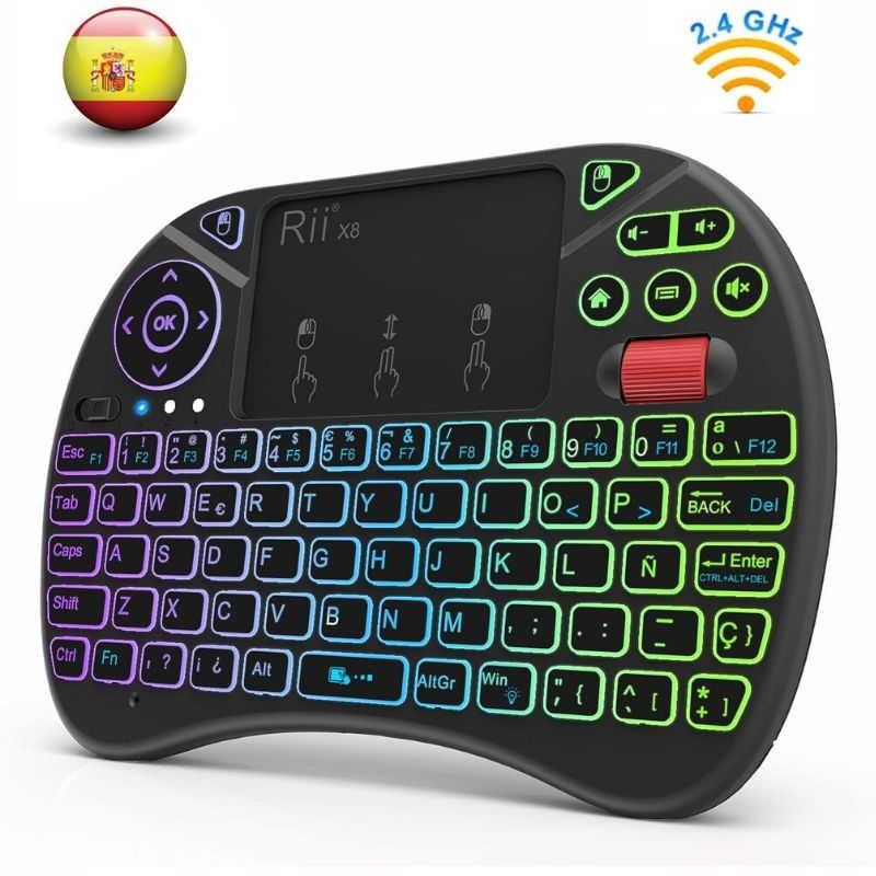 Mini teclado retroiluminado Rii X8