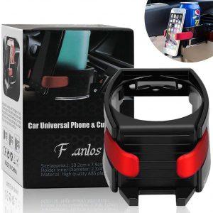 Soporte de bebidas y móvil para el coche