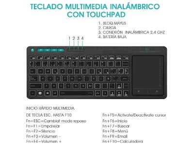 Teclado Bluetooth universal para tablet