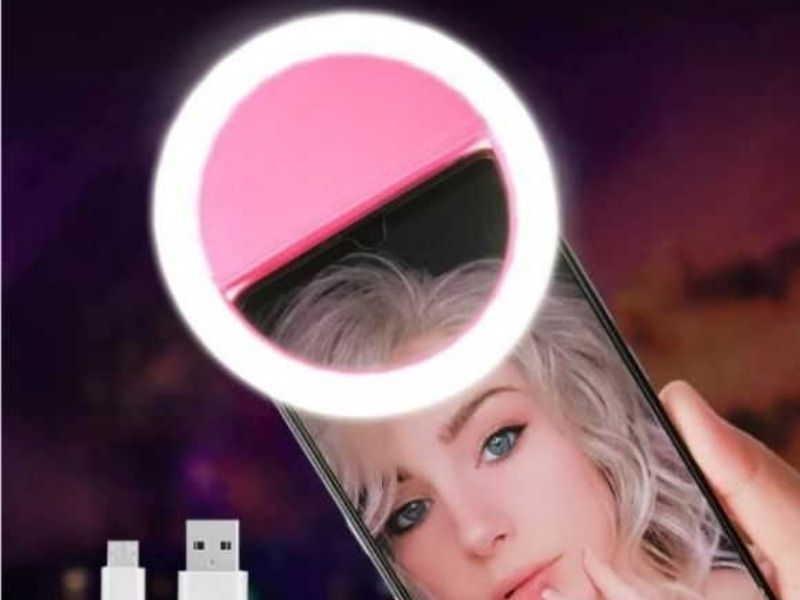 aro de luz con pinza para móvil