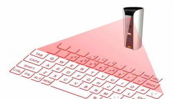 Teclado láser virtual Bluetooth con altavoz y batería externa